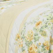 Kit: 1 Cobre-leito Casal + 2 Porta-travesseiros 150 fios - Rosalia Amarelo - Dui Design