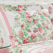 Jogo de Cama Casal 150 fios - Rosalia Vermelho - Dui Design