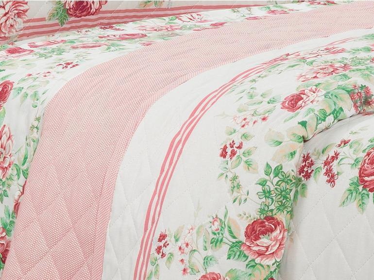 Kit: 1 Cobre-leito Casal + 2 Porta-travesseiros 150 fios - Rosalia Vermelho - Dui Design