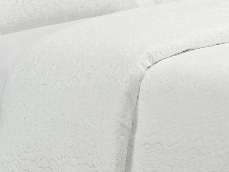Kit: 1 Cobre-leito Casal Bouti de Microfibra Ultrasonic + 2 Porta-travesseiros - Rosana Branco - Dui Design