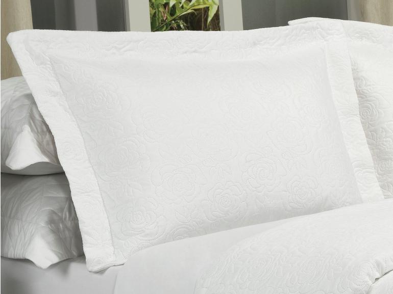 Kit: 1 Cobre-leito King Bouti de Microfibra Ultrasonic + 2 Porta-travesseiros - Rosana Branco - Dui Design
