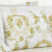 Kit: 1 Cobre-leito Solteiro + 1 Porta-travesseiro 150 fios - Rosana Sephia - Dui Design