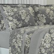 Jogo de Cama Queen 150 fios - Rosangela Preto e Branco - Dui Design