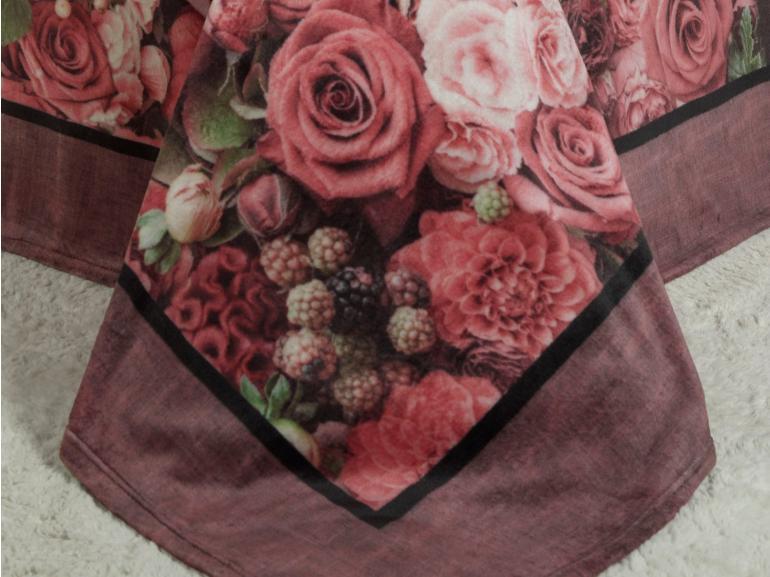 Cobertor Avulso Casal Flanelado com Estampa Digital 280 gramas/m² - Rose Garden - Dui Design
