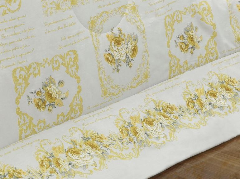 Enxoval Solteiro com Edredom 4 peças Percal 180 fios - Rosita Sephia - Dui Design