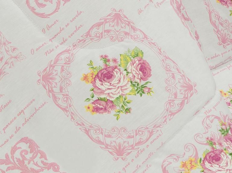 Jogo de Cama Casal Percal 180 fios - Rosita Vintage - Dui Design