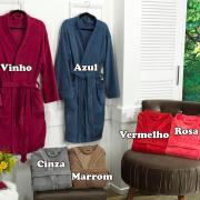 Roupão Kimono Microfibra - Tamanho G - Kacyumara