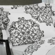 Jogo de Cama Casal 150 fios - Royale Cinza - Dui Design