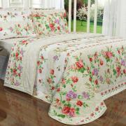 Kit: 1 Cobre-leito Casal + 2 Porta-travesseiros 150 fios - Rúbia Carmim - Dui Design