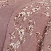 Enxoval Casal com Edredom 5 peças Percal 180 fios - Rubia Rosa Velho - Dui Design
