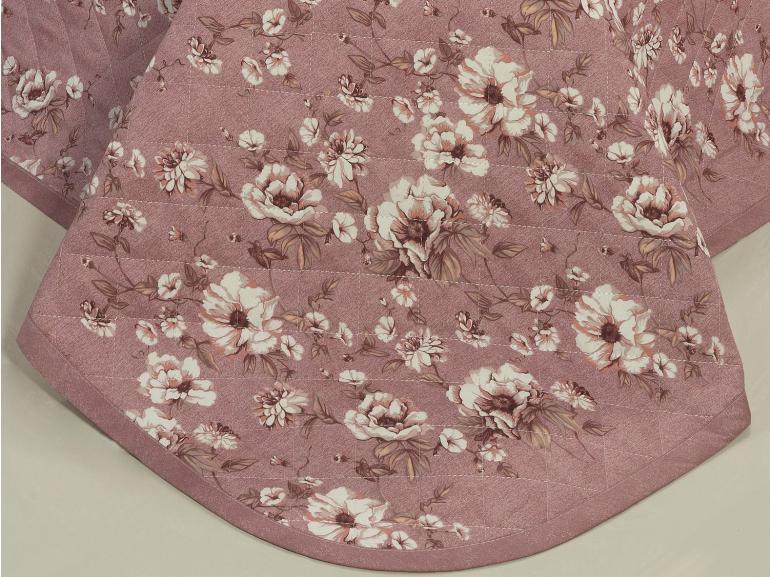Enxoval Solteiro com Cobre-leito 5 peças Percal 180 fios - Rubia Rosa Velho - Dui Design
