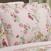 Kit: 1 Cobre-leito King + 2 Porta-travesseiros 150 fios - Sabine Rosa - Dui Design