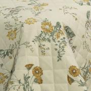 Kit: 1 Cobre-leito Casal + 2 Porta-travesseiros 150 fios - Sabine Sephia - Dui Design