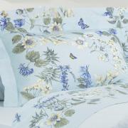 Edredom Solteiro Percal 180 fios - Samanta Azul - Dui Design