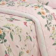 Kit: 1 Cobre-leito King + 2 Porta-travesseiros Percal 180 fios - Samanta Rosa - Dui Design