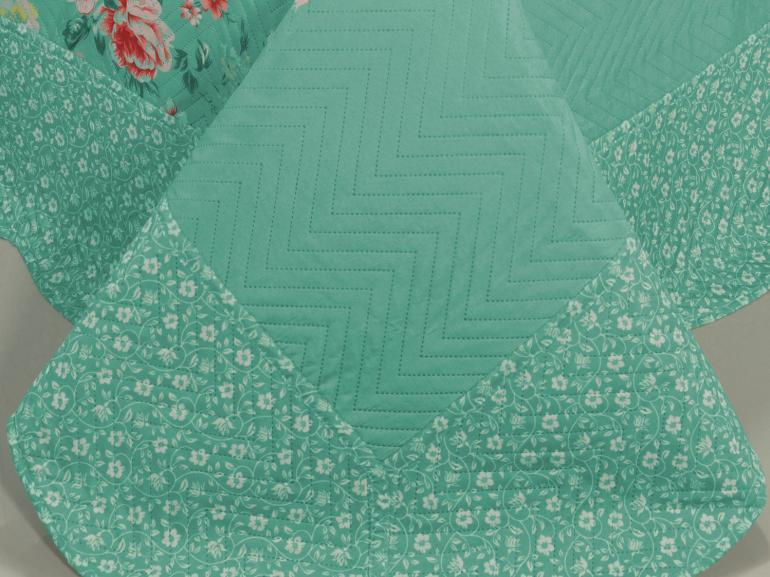 Kit: 1 Cobre-leito Casal Bouti de Microfibra Ultrasonic Estampada + 2 Porta-travesseiros - Samira Vintage - Dui Design