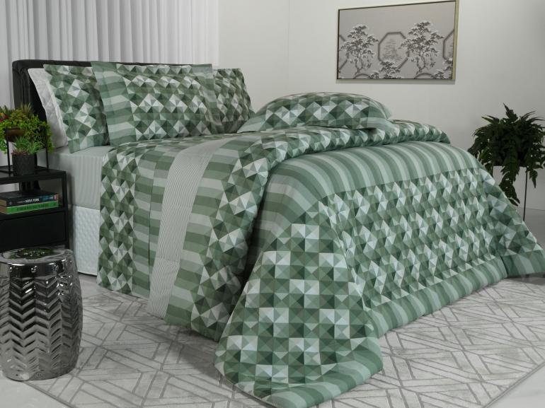 Jogo de Cama Queen 150 fios - Sandor Confrei - Dui Design