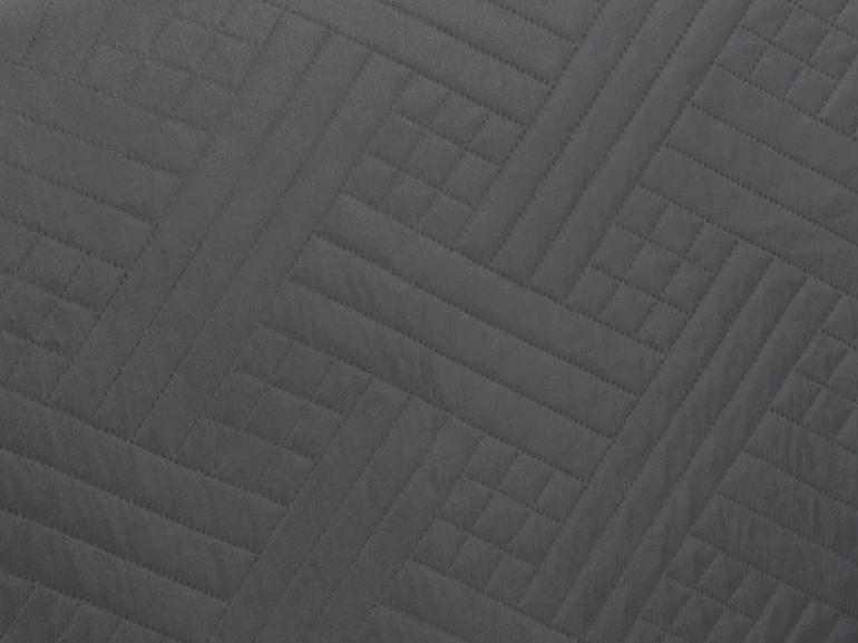 Kit: 1 Cobre-leito King Bouti de Microfibra Ultrasonic + 2 Porta-travesseiros - Saulo Grafite - Dui Design