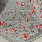 Kit: 1 Cobre-leito Casal + 2 Porta-travesseiros 150 fios - Scarlet Cinza - Dui Design