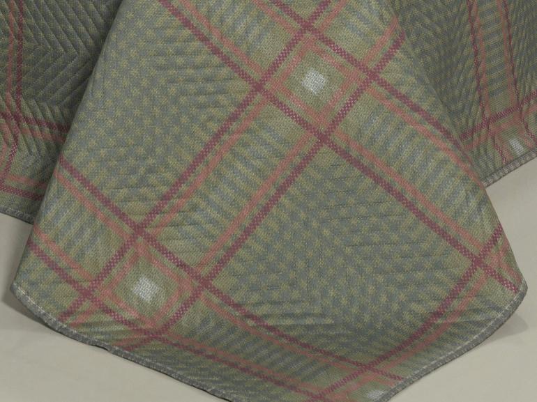 Kit: 1 Cobre-leito Casal Bouti de Microfibra Ultrasonic Estampada + 2 Porta-travesseiros - Scott Cinza - Dui Design