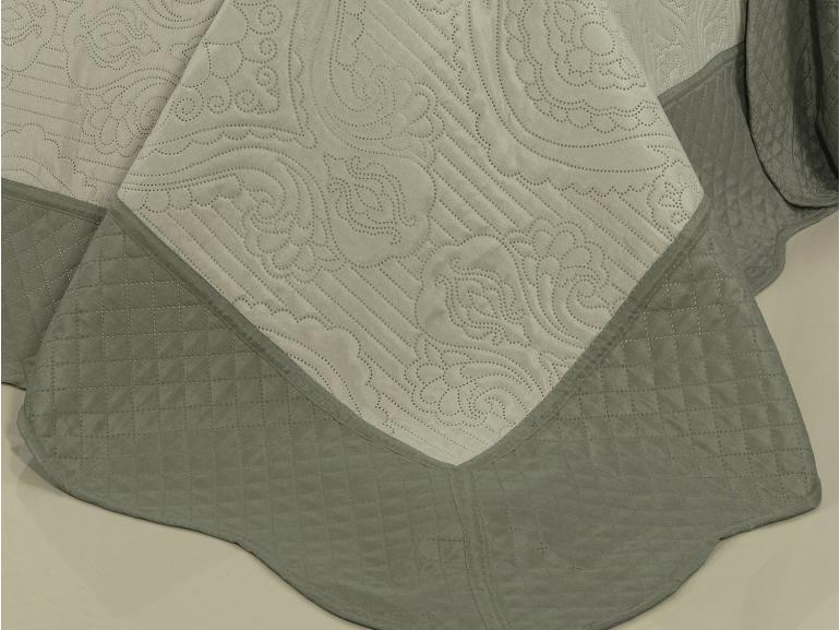Kit: 1 Cobre-leito Casal Bouti de Microfibra Ultrasonic + 2 Porta-travesseiros - Segovia Bege - Dui Design