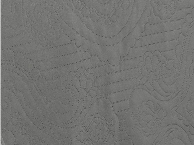 Kit: 1 Cobre-leito Solteiro Bouti de Microfibra Ultrasonic + 1 Porta-travesseiro - Segovia Cinza e Grafite - Dui Design
