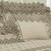 Kit: 1 Cobre-leito Solteiro + 1 porta-travesseiro Percal 200 fios com Bordado Inglês - Selena Castanho - Dui Design