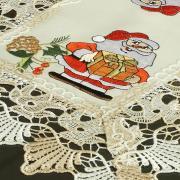 Jogo Americano Natal 4 Lugares (4 peças) com Bordado Richelieu 35x50cm - Serenata Bege - Dui Design
