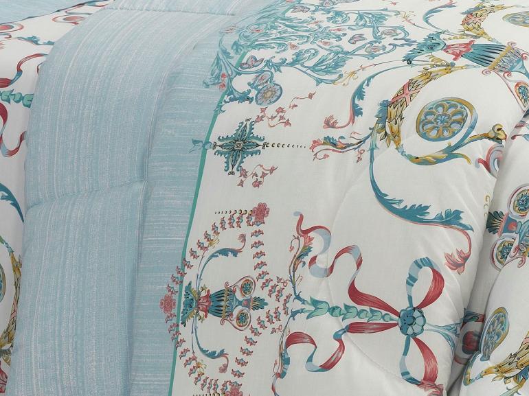 Jogo de Cama Solteiro Percal 200 fios - Shanti Azul - Dui Design