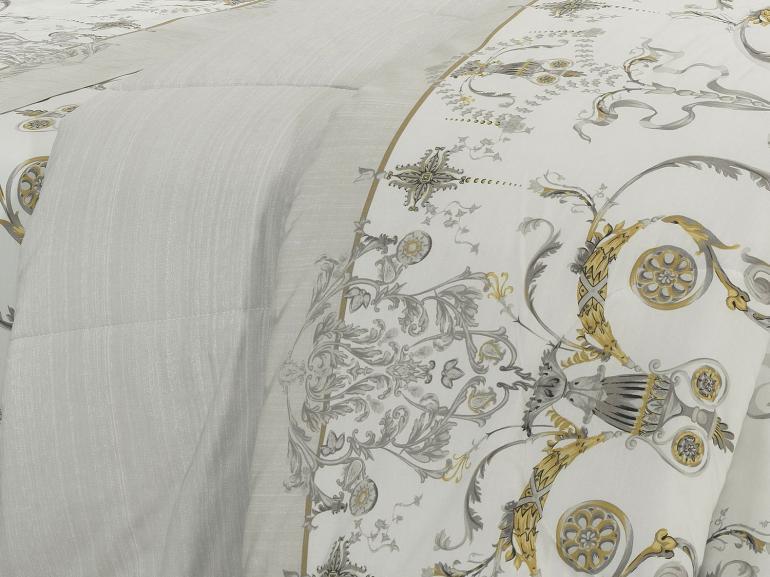 Edredom King Percal 200 fios - Shanti Cinza - Dui Design