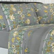 Jogo de Cama Queen Percal 180 fios - Sharon Cinza - Dui Design
