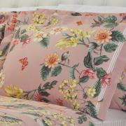 Jogo de Cama Queen Percal 180 fios - Shirley Rosa - Dui Design
