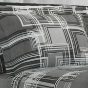 Jogo de Cama Queen 150 fios - Sidney Cinza - Dui Design