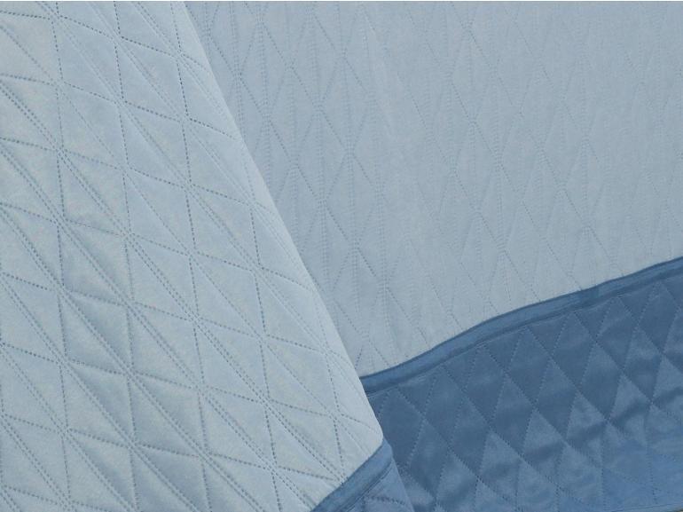 Kit: 1 Cobre-leito King Bouti de Microfibra Ultrasonic + 2 Porta-travesseiros - Sierra Azul - Dui Design