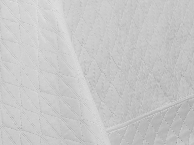 Kit: 1 Cobre-leito Queen Bouti de Microfibra Ultrasonic + 2 Porta-travesseiros - Sierra Branco - Dui Design
