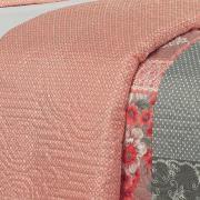 Kit: 1 Cobre-leito King Bouti de Microfibra Ultrasonic Estampada + 2 Porta-travesseiros - Silvana Rosa - Dui Design