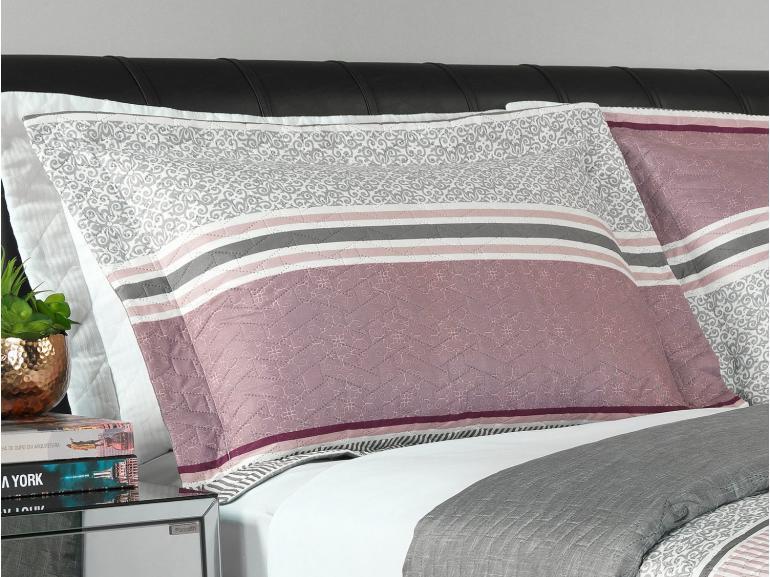 Kit: 1 Cobre-leito King Bouti de Microfibra Ultrasonic Estampada + 2 Porta-travesseiros - Simon Albergine - Dui Design