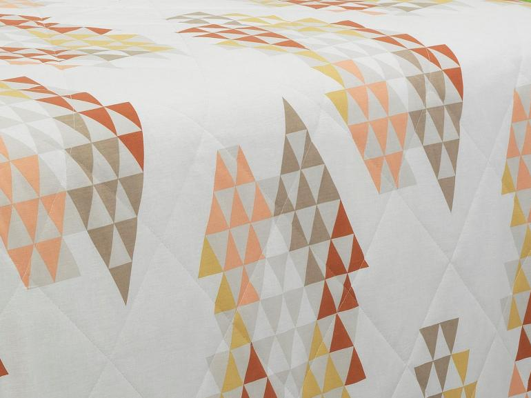 Kit: 1 Cobre-leito Casal + 2 Porta-travesseiros 150 fios - Singapura Bege - Dui Design