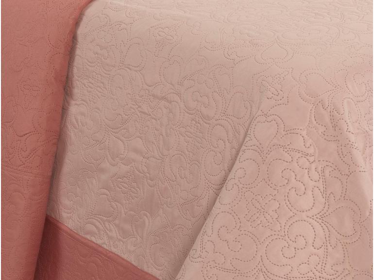 Kit: 1 Cobre-leito Casal Bouti de Microfibra Ultrasonic + 2 Porta-travesseiros - Sintra Nude - Dui Design
