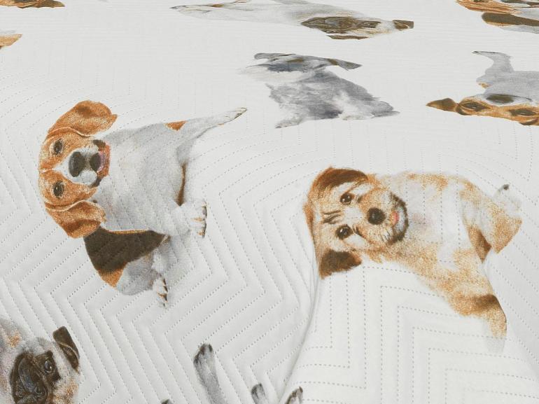 Kit: 1 Cobre-leito Solteiro Bouti de Microfibra Ultrasonic Estampada + 1 Porta-travesseiro - So Dogs - Dui Design