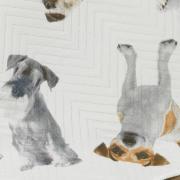 Kit: 1 Cobre-leito Casal Bouti de Microfibra Ultrasonic Estampada + 2 Porta-travesseiros - So Dogs - Dui Design