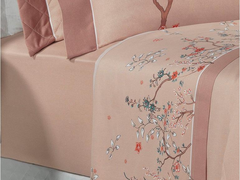 Jogo de Cama Queen Cetim 300 fios - Sonique Rosé - Dui Design
