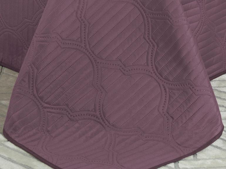 Kit: 1 Cobre-leito Casal Bouti de Microfibra Ultrasonic + 2 Porta-travesseiros - Soul Uva - Dui Design