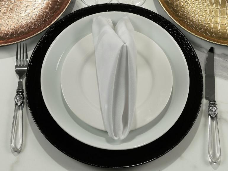 Kit: 4 Sousplat 33cm redondo - Crocco - Dui Design