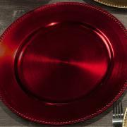 Kit: 4 Sousplat 33cm redondo - Doris - Dui Design