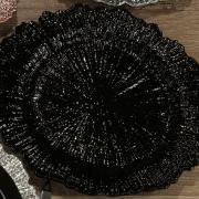 Kit: 4 Sousplat 33cm redondo - Ebony - Dui Design