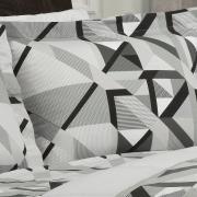 Jogo de Cama Casal 150 fios - Spyke Cinza - Dui Design