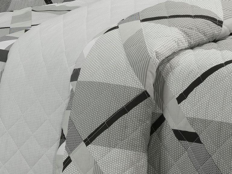 Enxoval Casal com Cobre-leito 7 peças 150 fios - Spyke Cinza - Dui Design