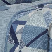 Enxoval Solteiro com Cobre-leito 5 peças 150 fios - Spyke Indigo - Dui Design