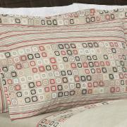 Enxoval Solteiro com Cobre-leito 5 peças 150 fios - Square Stone - Dui Design
